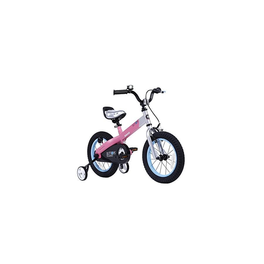"""RoyalBaby CubeTube Matte Buttons 16"""" Bicycle for Kids, Pink"""