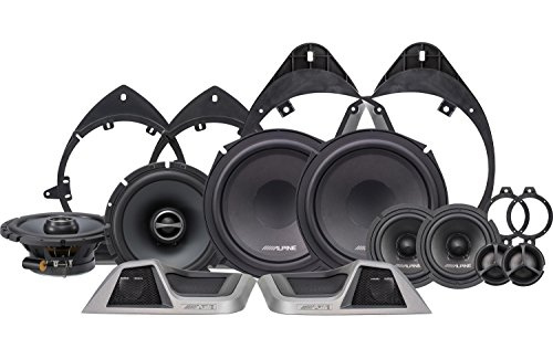 Alpine Electronics SPT-31GM 3-Way Speaker System for 2014-Up Chevy Silverado, Set of 10 by Alpine