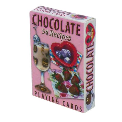 Chocolate Recipes Playing Cards - Deck of 54 Cards