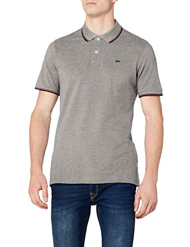 light Stripe Gris Jjecontrast Slim Grey Jones Homme Melange Ss Fit Melange Polo Noos Detail Jack amp; SOt8BARRz