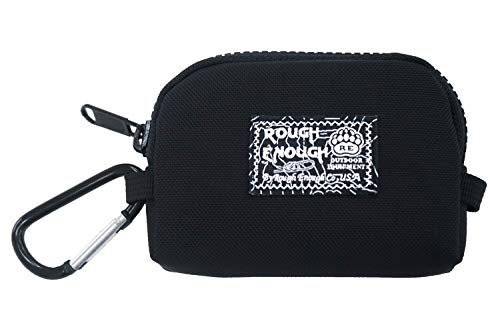 - Rough Enough Prime Cordura Nylon Basic Fancy Fashion Small Portable Coin Case Pouch Holder Organizer Party Purse for Shopping Outdoor Sports Bag Backpack Gym with Fasten Clip On Key Ring