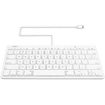 87f649c5e84 Amazon.com: Omars MFI Certified iPad Plug-n-Go Wired Keyboard with 8 ...
