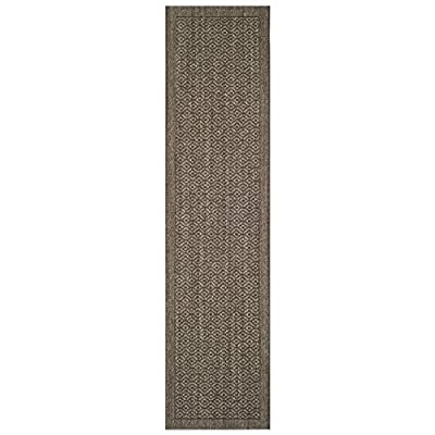 Safavieh Palm Beach Collection PAB355D Sisal Runner, 2' x 8', Silver - Natural Sisal fibers are used to make this everyday rug Each rug is power loomed from natural materials to add style to these rugs This rug features a traditional Woven Pattern - runner-rugs, entryway-furniture-decor, entryway-laundry-room - 41IGeByoo L. SS400  -