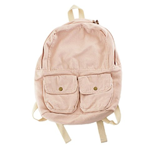 MiCoolker Denim Washed Canvas Satchel Fashion Cute College Schoolbag Casual Travel Shoulders...