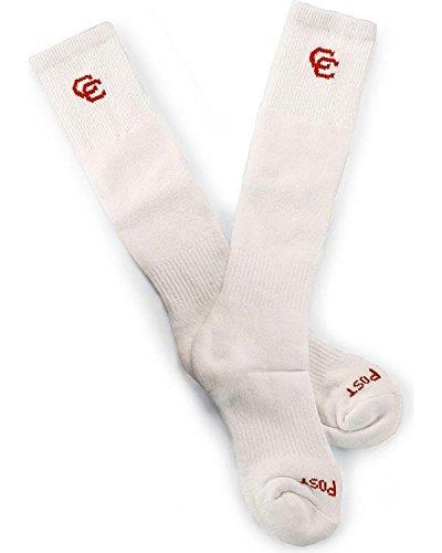 Dan Legg Kvinners Cowgirl Sertifisert Boot Sokker (2-pack) - Dpcgc Gammel Hvit