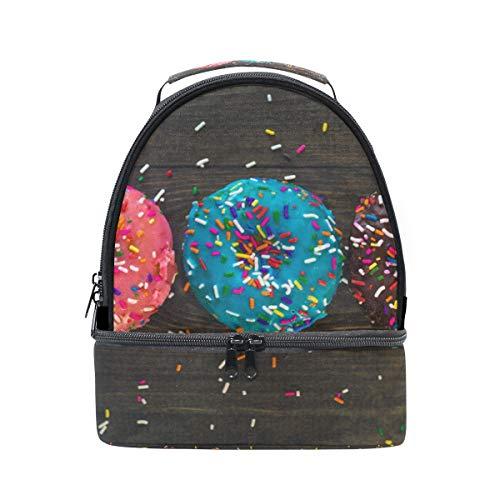 bandoulière réglable pour Sac à lunch Pincnic Sac coloré l'école à avec Donuts Alinlo Boîte isotherme xHvgzBq