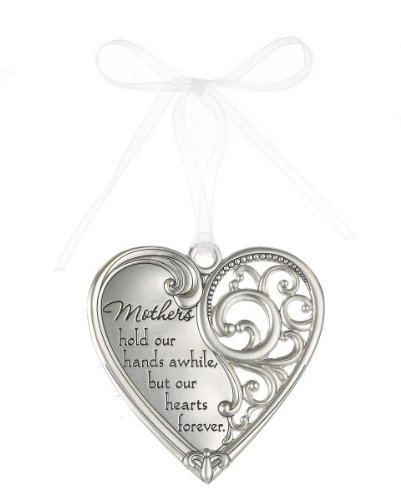 """""""Mothers hold our hands awhile but our hearts forever"""" Always In My Heart Filigree Ornament"""