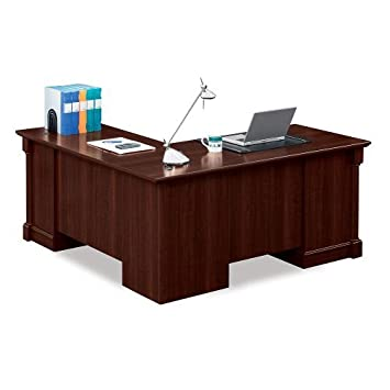on sale 3331c ebba1 Sauder Office Furniture Palladia Collection Cherry Finish L-Shaped Desk  with Right Return