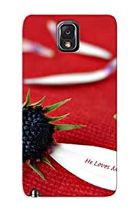 Tpu Case Cover Compatible For Galaxy Note 3/ Hot Case/ He Loves Me Not