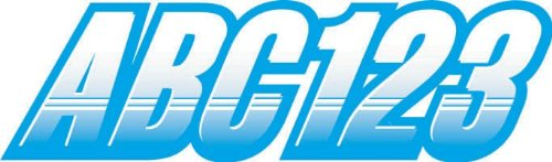 """STIFFIE Techtron White/Sky Blue 3"""" Alpha-Numeric Registration Identification Numbers Stickers Decals for Boats & Personal Watercraft"""