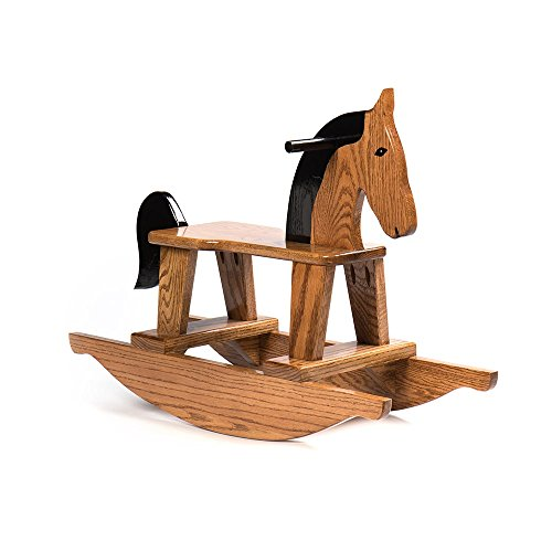 - Rojo Company Handcrafted Amish-Made Rocking Horse for Children