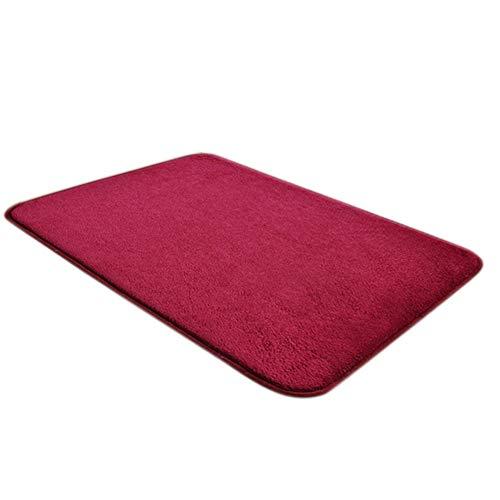 (dongzhifeng Rug Rugs Welcome Mat Door Mat Matt Indoor Matt Outdoor Convenient Magic Non-Slip Mat Dirts Trapper Indoor Super Absorbent Mat 4060cm Wine Red)