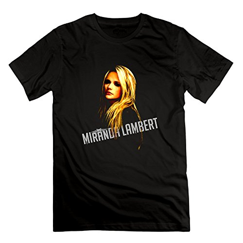 US-Men's Miranda Lambert Country Music Poster Tees Shirt.