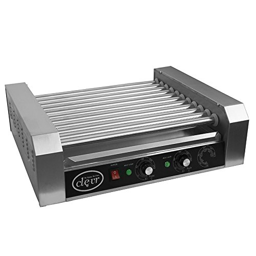 Clevr Commercial 11 Roller and 30 Hotdog Grill Cooker Warmer Hot Dog Machine by Clevr (Image #5)