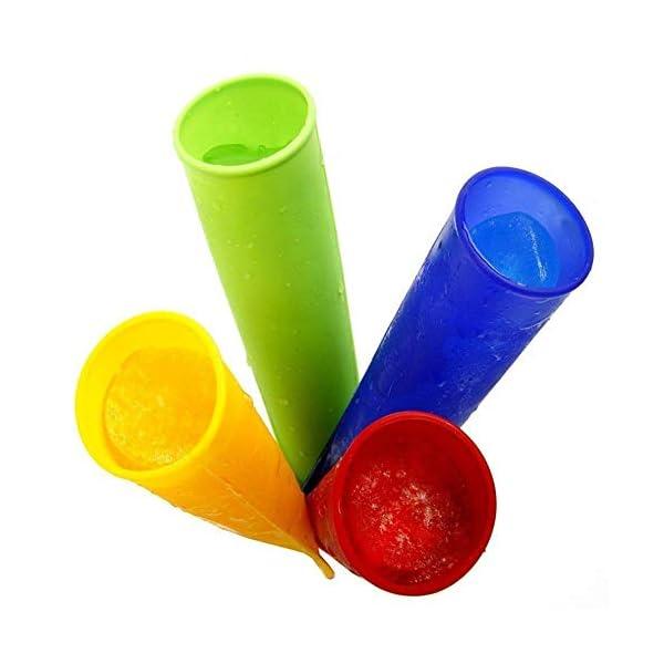 WESEEDOO Stampi per ghiacciolo e Gelato Stampi Pop per Gelato Silicone Coperchi Rimovibili per congelatore con i… 2 spesavip