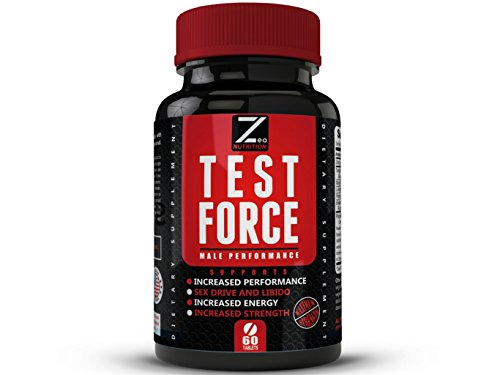 TEST:FORCE – 100% Natural Maximum Strength & Potent Testosterone Booster For Men – Supercharges Vitality, Muscle Mass & Powerful Energy Booster – Full 30-Day Cycle by Zeo Nutrition