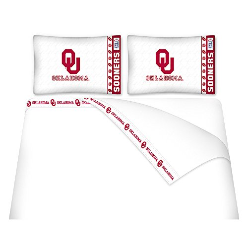 NCAA Oklahoma Sooners Micro Fiber Sheet Set - In Stores Ok Norman