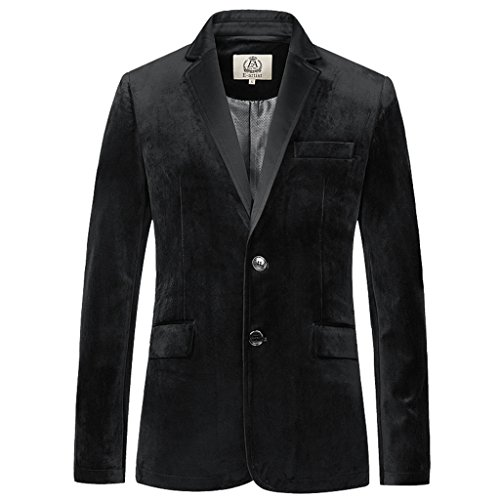 Cheap E-artist Men's Slim Fit Casual Velvet Blazer Jacket X39