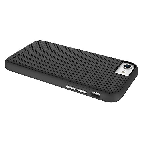 Prodigee [Breeze] Black Negro para Apple iPhone 7 & iPhone 6 / 6s 4.7 Cell phone case caso caja Carcasa Funda cubierta envoltura cajas del teléfono with textured back 2-piece design