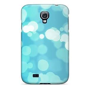 High Grade EricaDenise Flexible Tpu Case For Galaxy S4 - Blue Bokeh