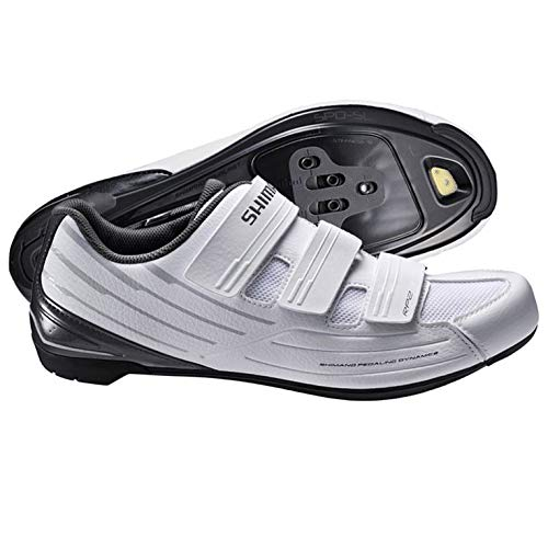 Shimano SH-RP2 Women's Touring Road Cycling Synthetic Leather Shoes, White, 41