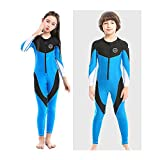 ZCCO Kids Swimsuit Girls and Boys Long Sleeve UV Sun Protection Full Body Rash Guard for Swimming Scuba Diving Snorkeling Pool Multi Water Sports One Piece Dive Skin Suit