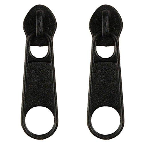 Black Zipper Earrings (Stud Earring Zipper (Black) Made With Zinc Alloy by JOE COOL)