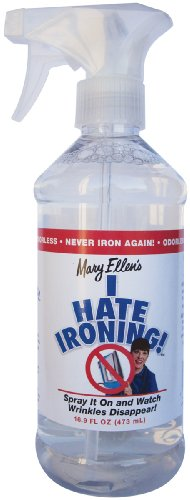 Mary Ellen Products I Hate Ironing Spray Wrinkle Remover, 16 -Ounce by Mary Ellen Products