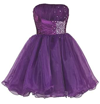 Faironly Zm3 Homecoming Mini Party Cocktail Dress (XS, Purple)
