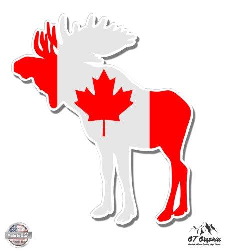 GT Graphics Moose Canada Flag - 3