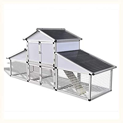 K&A Company Aluminum Chicken Coop with Runs and 1 Nest Box
