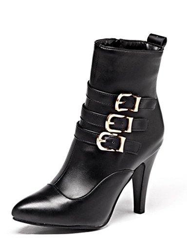 5 5 De Trabajo us9 Y Eu42 La Eu41 Semicuero Marrón Brown Casual Uk7 A Cono Uk8 us10 Vestido negro Oficina 5 Botas Mujer Moda 10 Zapatos Puntiagudos Xzz Cn42 8 Cn43 Red Tacón 5 7qFpR5xw