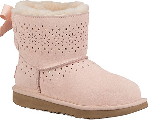 UGG Girls Dae Sunshine Perf Shearling Boot, Baby Pink, Size 6 M US Big Kid by UGG