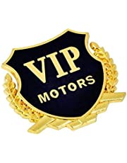 Car Styling Metal stickers 3D VIP MOTOR sticker Car Motorcycle sticker (Golden)
