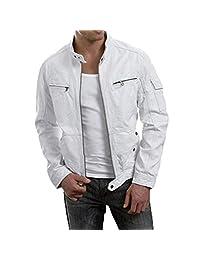 New Fashion Style Mens Leather Jackets White