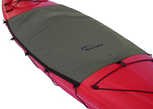 Seals Cockpit Drape Cockpit Cover Tandem, Gray, (Tandem Kayak Cockpit Cover)