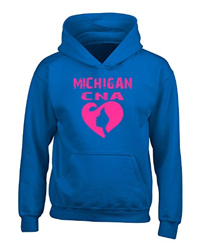 Assistant Hooded Sweatshirt (Michigan Cna Certified Nurse Assistant Cna Proud Love Nursing - Adult Hoodie)