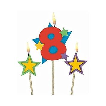 16 Pro Packung 18cm Unbekannt Hoch Silber Geburtstags Kerze Kerzen