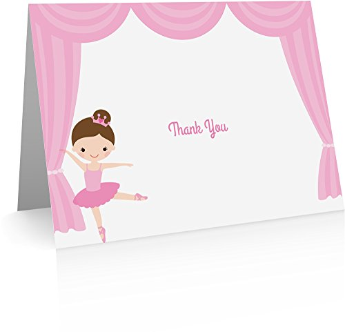 Flat Card Ballerina (Ballerina Thank You Cards (20 Foldover Cards and Envelopes) Kids Thank You Cards)