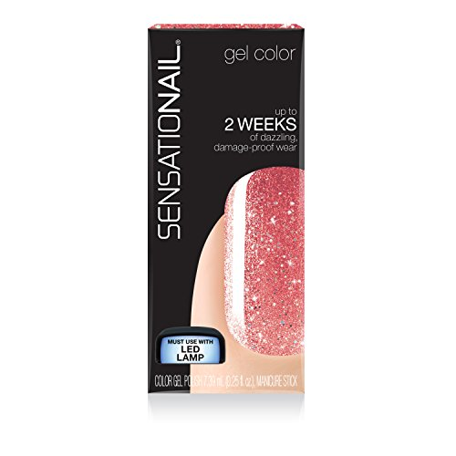 Sensationail Gel Glitter - Rose Gold Glitter - 71955 -
