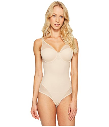 Miraclesuit Shapewear Women's Sheer Thong BodyBriefer Nude 38D (Miraclesuit Body Briefer)