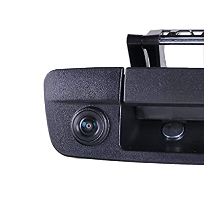 Omotor for Dodge Ram 1500 2009 2010 2011 2012 2014 2015 2016 2020 Black Tailgate Backup Reverse Handle with Camera: Car Electronics