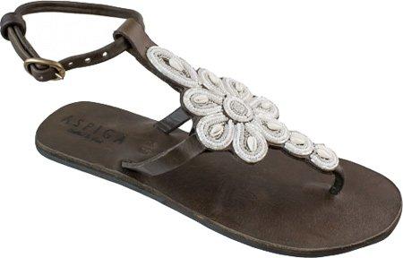 Aspiga - Sandalias de Piel para mujer Blanco blanco 38