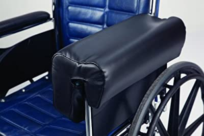 Secure Deluxe Lateral Wheelchair Arm Support, Black - Armrest Cushion