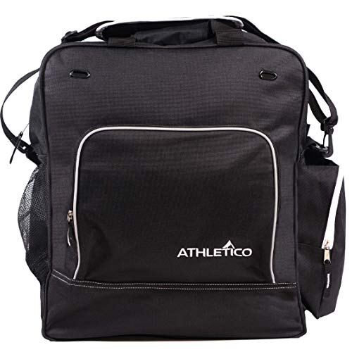 Athletico Weekend Ski Boot Bag - Snowboard Boot Bag - Skiing and Snowboarding Travel Luggage - Stores Gear Including Jacket, Helmet, Goggles, Gloves & Accessories (Black) (Best At Ski Boots)