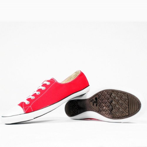 Converse Mens All Star Shoes Sneakers Basse Rosse