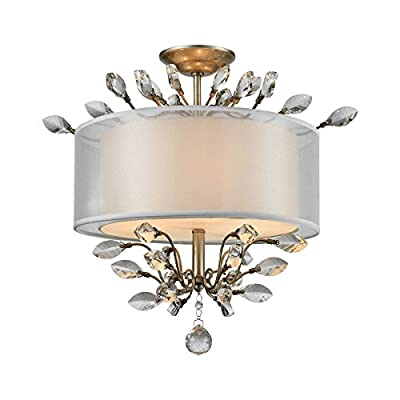Elk Lighting 16281/3 Close-to-Ceiling-Light-fixtures, 18 x 19 x 19, Silver