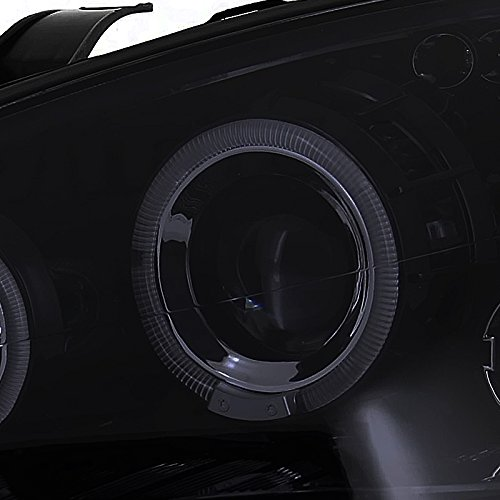 Spec-D Tuning 2LHP-FOC00G-TM Ford Focus Glossy Black Led Dual Halo Smoked Lens Projector Headlights