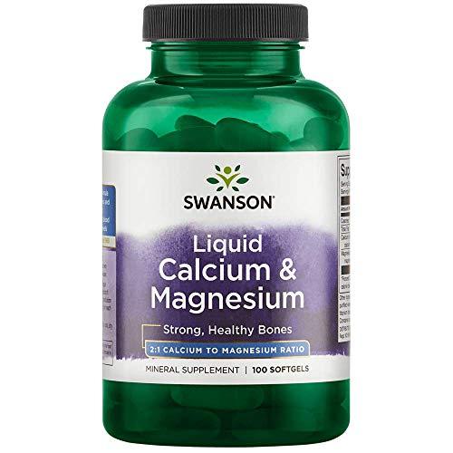 Swanson Liquid Calcium & Magnesium 300/150 Milligrams 100 Sgels