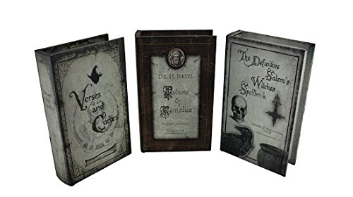 Set of 3 Scary Vintage Style Hollow Book Secret Stash